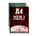 A4 (21 X 29,7cm)