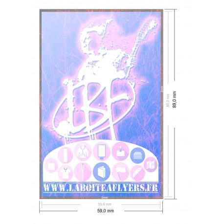 Cartes de visite (8,5 x 5,5 cm)