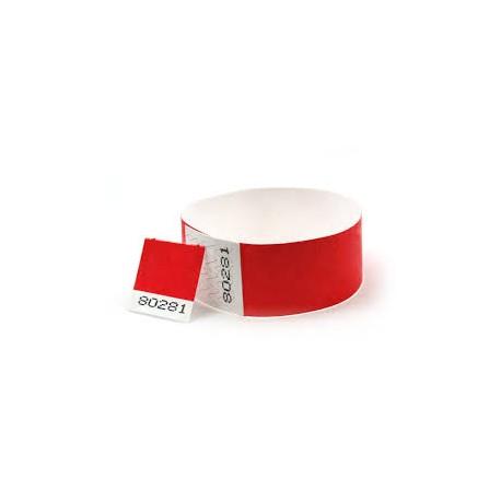 Bracelets Tyvek 25mm avec coupon détachable.